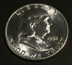 1951-d Franklin $. 50 Ms64 Fbl