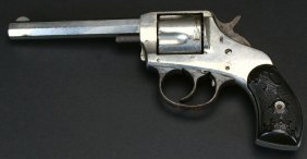 H&r Arms Company Nickel Plated Vintage Revolver