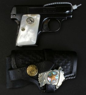 Colt M-1908 .25 Cal Auto, Factory Pearl Grips