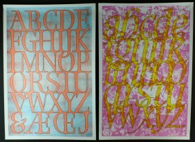Pair, David Kindersly, Exhibition Posters C. 1969