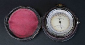 French Pocket Barometer/altimeter, Cased, C.1880