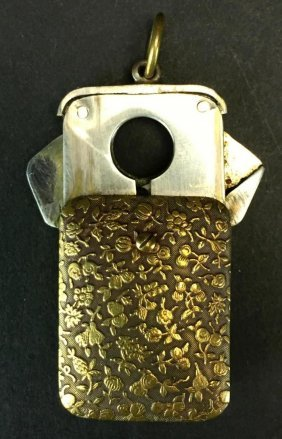 Cigar Plug Cutter/brass Floral