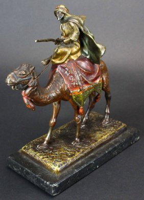 Bronze Arab On Camel By Antoine Bofill