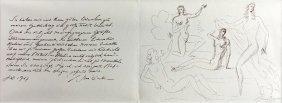 Letter & Sketches, Arno Breker, 1987