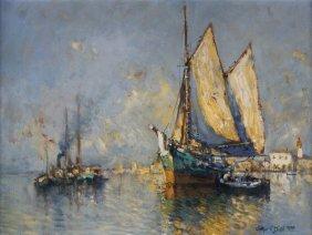 O/b Provincetown Harbor, Arthur Diehl, 1928