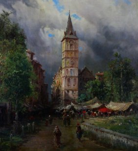 O/c, Eugenio Amus, Italian (1834-1899)
