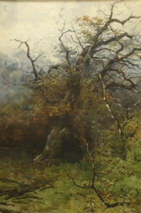 W/c/p Landscape W/tree, Filiberto Petiti (1845-19