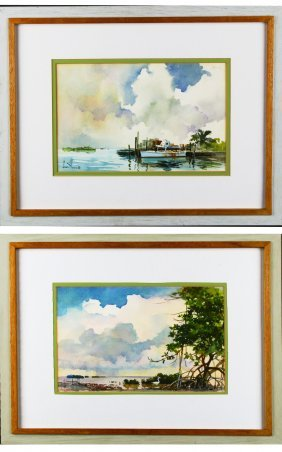 W/p, Pair Florida Keys Landscapes, Joan Howe