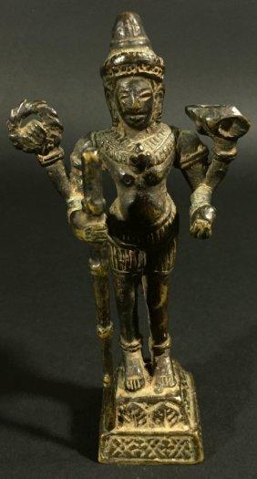 Cambodian, Bronze Statue Of Vishnu, Bayon Style