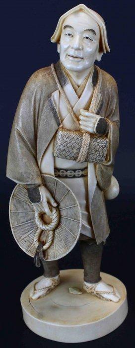 Ivory Figure By Shinsho Kikuchi, Meiji