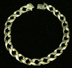 """Gold Bracelet, Stamped 18K, 7"""" long."""