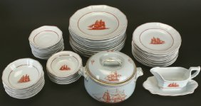 (67) Wedgwood Dinnerware Set, Flying Cloud