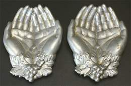 (2) Pair of Silver Hand Soap Dishes
