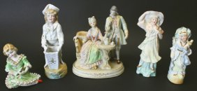 (5) Porcelain Figures, Japan