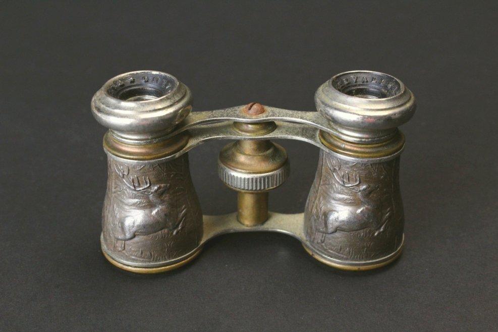 Brass Opera Glasses, Hunting Scene, Chevalier - 2