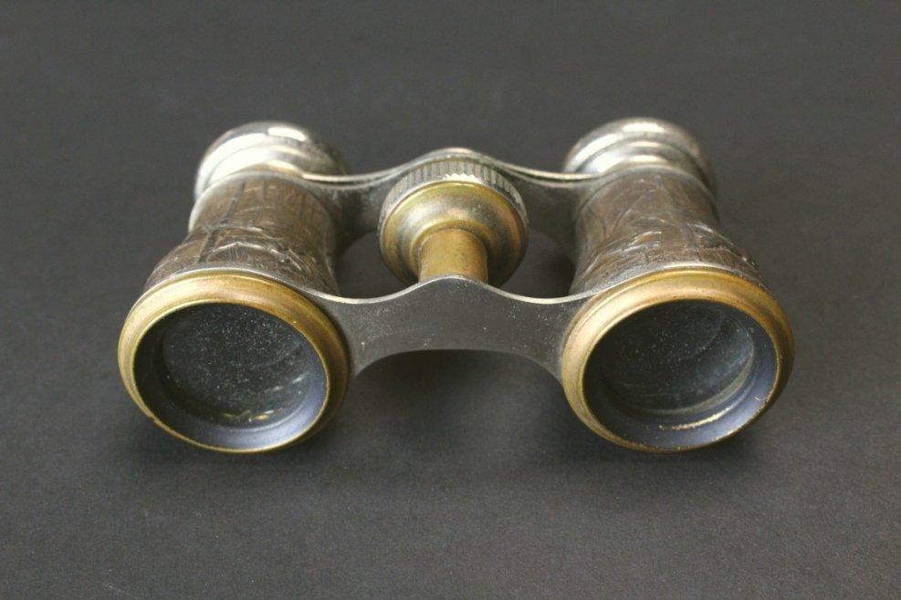 Brass Opera Glasses, Hunting Scene, Chevalier - 4