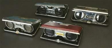 Four Folding Pocket Opera Glasses