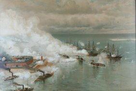 Chromolithograph, Battle Mobile Bay, Jo Davidson
