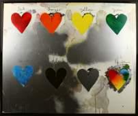Print, Colored Hearts, Jim Dine, 1970