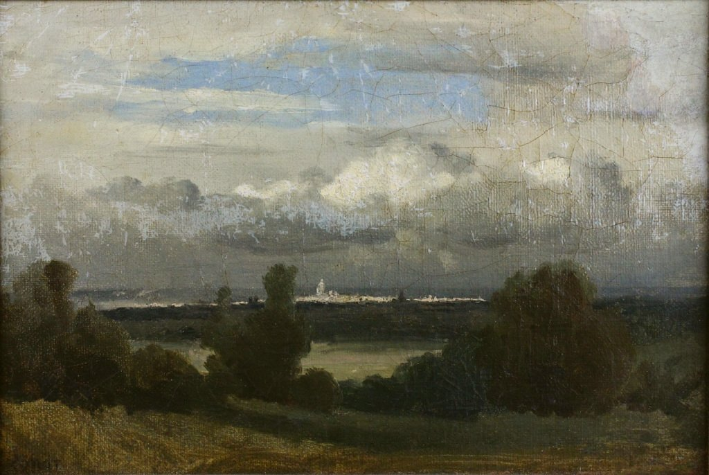 O/C, View of Paris, Jean-Baptiste-Camille Corot