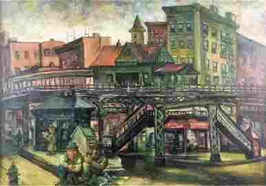 O/C Elevated Train Station, Burliuk, 1938