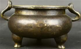 Censer Bronze Tripod Ming Dynasty