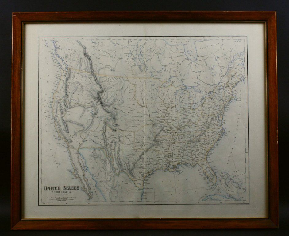 Map, United States in North America, Swanston