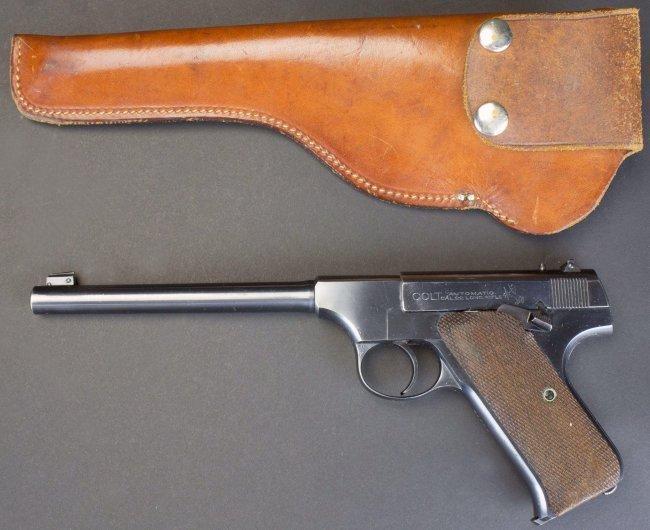 Colt, Woodsman, .22 Cal, c.1924, orig holster*FFL - 8