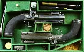 Fine Pair Captain's Bayonet Pistols by R. Scott