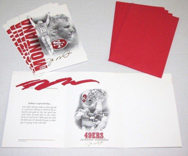 1004: Joe Montana Dotson Art 5pk Greeting Cards