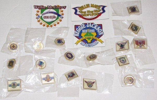 1006: Proto Simba Baseball HOF Stick Pins & Magnet Lot