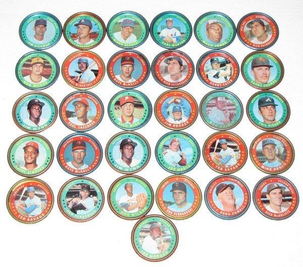 1007: 1970's Topps Baseball Coins - 31pc LOT