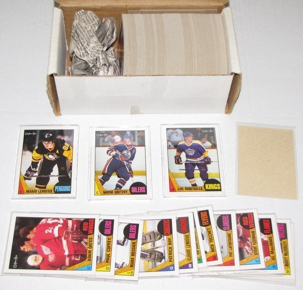 1014: 1987-88 OPC Hockey Set - ALL BLANK BACK CARDS
