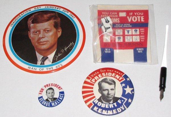 1021: Original Kennedy Innaug Campaign LBJ Museum LOT
