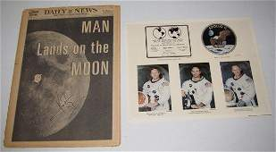 1094: Signed Neil Armstrong 7/21/69 Man Walks on Moon