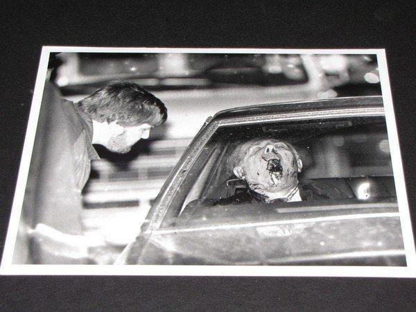 1144: Angelo Bruno Mafia B&W UPI Crime Scene Photo