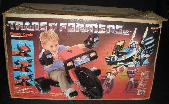 Vtg Coleco Transformers Power Cycle Big Wheel
