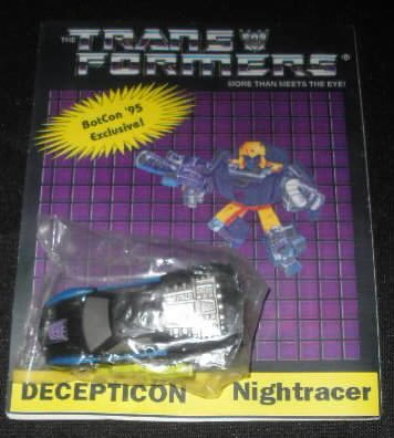 1995 Botcon Transformers Nightracer Sealed