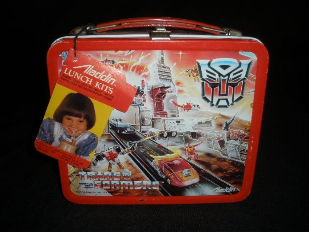 Vtg Transformers Steel Lunchbox New w/ Tags