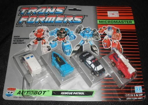 Vtg Transformers Micromaster Rescue Patrol MOC