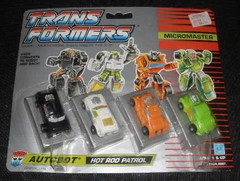 Vtg Transformers Micromaster Hot Rod Patrol MOC