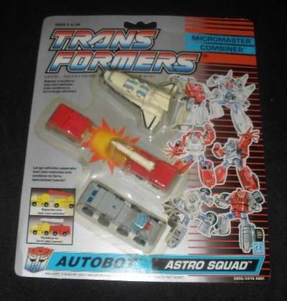 Vtg Transformers Micromaster Astro Squad MOC