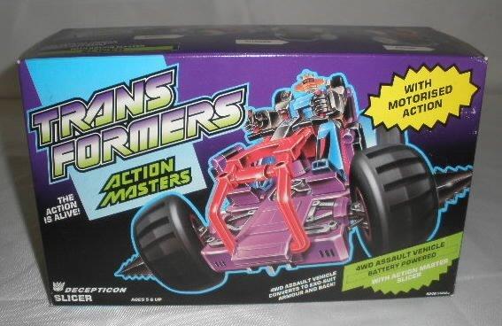 Vtg Transformers Action Masters Slicer MIB