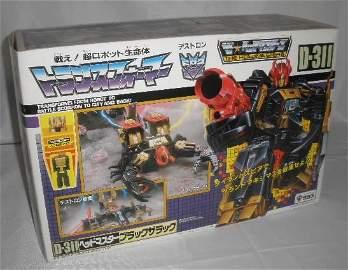 Vtg Jap Transformers Black Zarak D-311 MISB