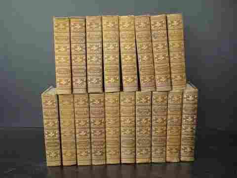 """Eighteen volume set: """"Scott's Works"""""""