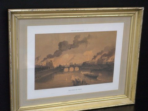 "2012: Matted and framed print ""Les Quais de Paris"" Vus"