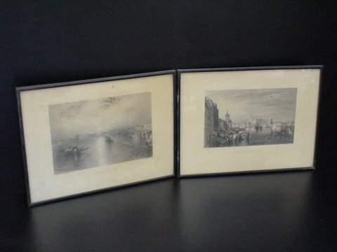 2016: Set of two framed prints: Each are by J.M.W. Turn