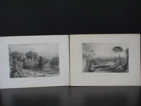 2018: Lot of 7 J.M.W. Turner prints: 1) Junction of the