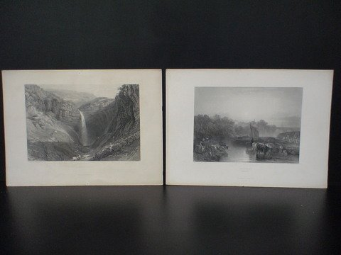2022: Set of 8 J.M.W. Turner prints: 1) Abingdon, Berks