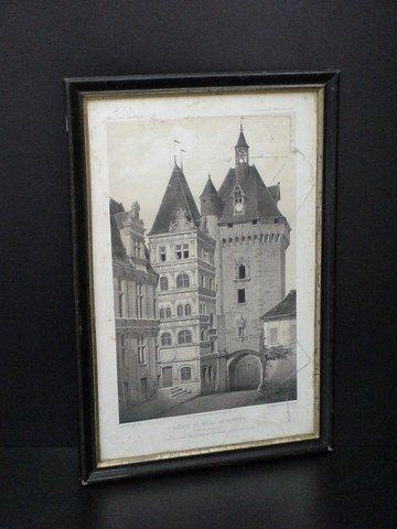 "4017: Framed print of the ""Hotel de Ville de Loches"" (f"